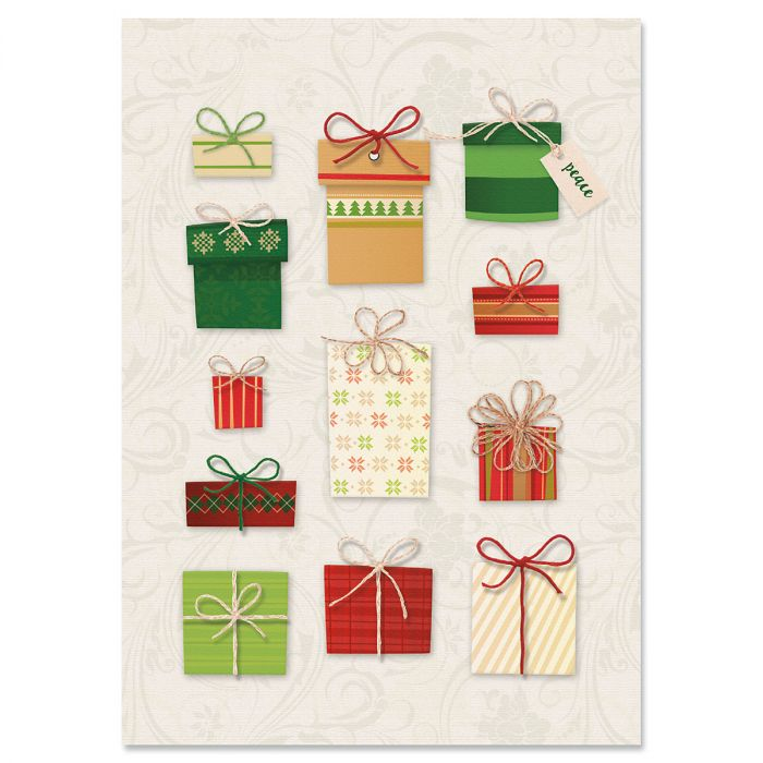 Gift Boxes Christmas Cards - Nonpersonalized