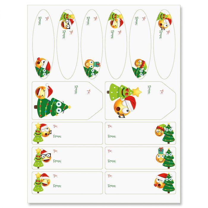 Christmas Emoji Labels