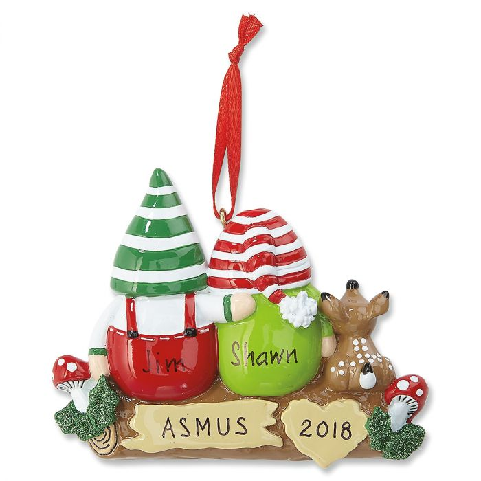 Idle Gnomes Personalized Christmas Ornaments