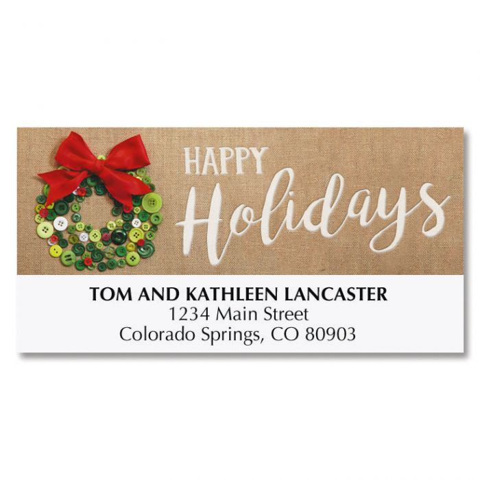 Button Wreath Deluxe Address Labels