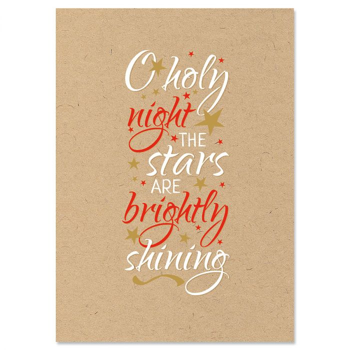 Kraft Holy Night Christmas Cards - Nonpersonalized