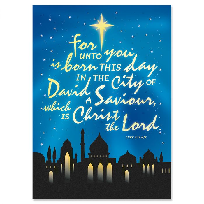 Bethlehem Christmas Cards - Personalized