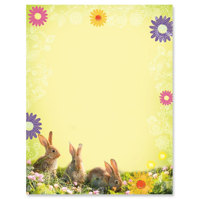 Photo Bunnies Easter Letter Papers