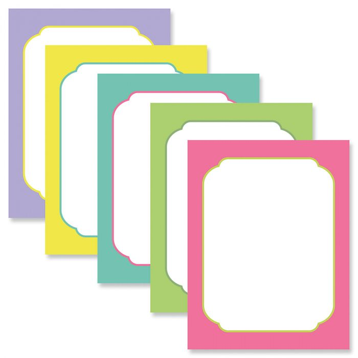 Color Borders Letter Papers (5 Colors)