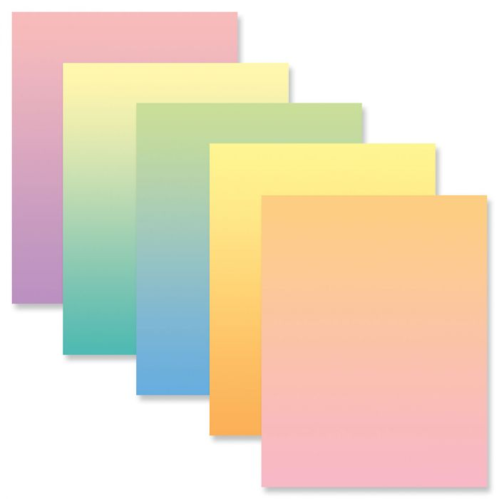 Ombre Letter Papers (5 Colors)