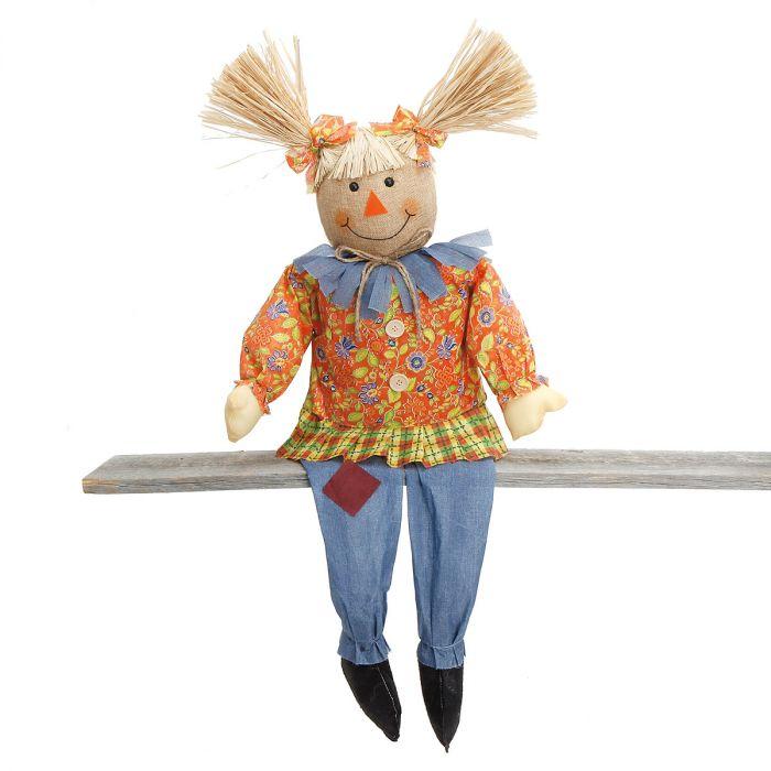 Girl Sitting Scarecrow