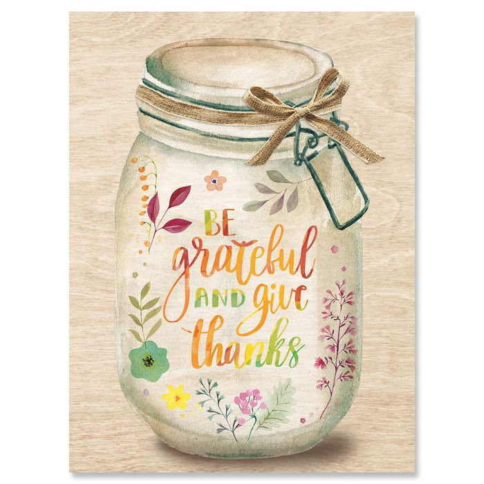 Grateful Jar Note Cards - BOGO