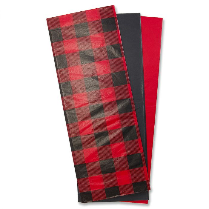 Buffalo Plaid Tissue Sheets - BOGO