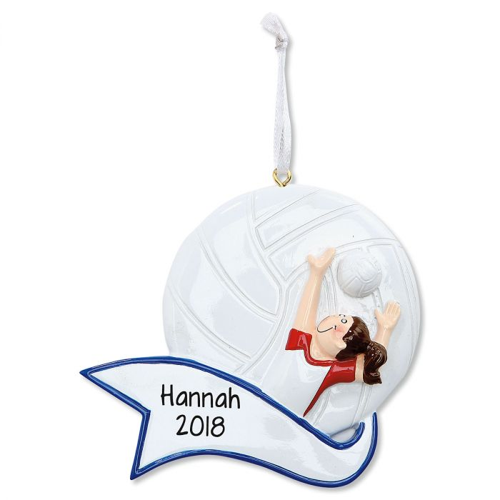 Volleyball Girl Personalized Christmas Ornament