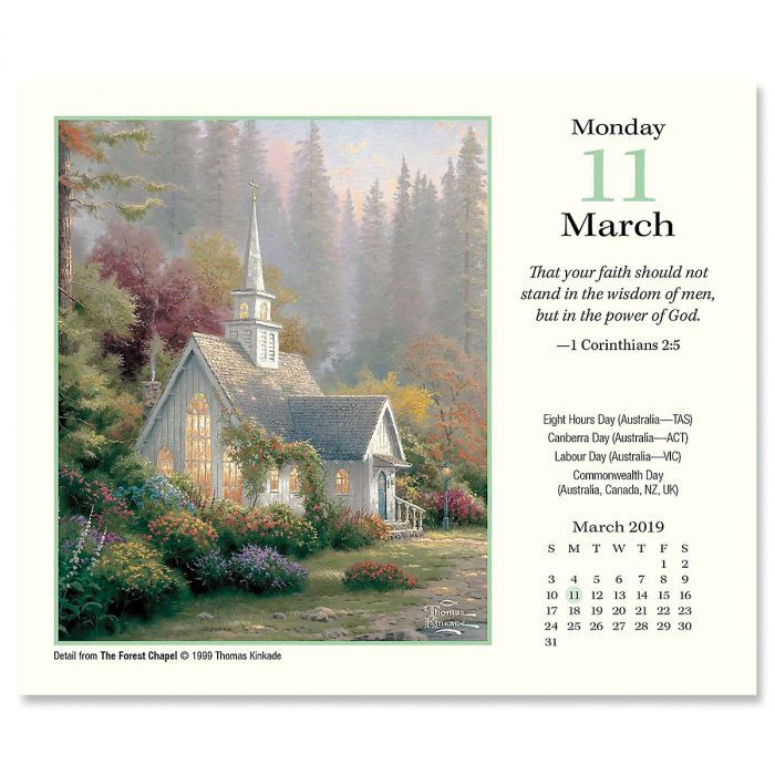 ... 2019 Painter Of Light Day To Day Calendar With Scripture By Thomas  Kinkade ...