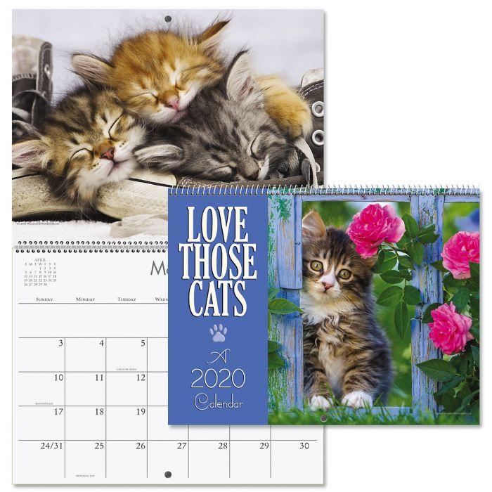 2020 Love Those Cats Wall Calendar