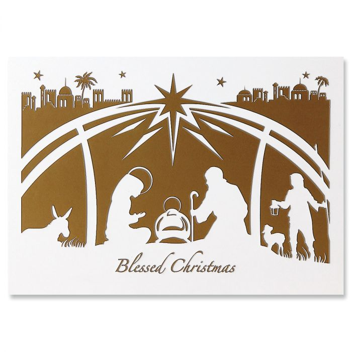 Holy Night Ultra-Deluxe Religious Christmas Cards