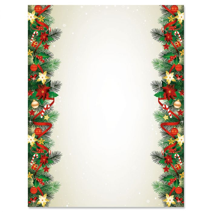 Fir Branches Deluxe Christmas Letter Papers