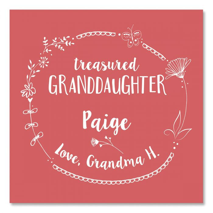 Personalized Granddaughter Glass Trinket Box
