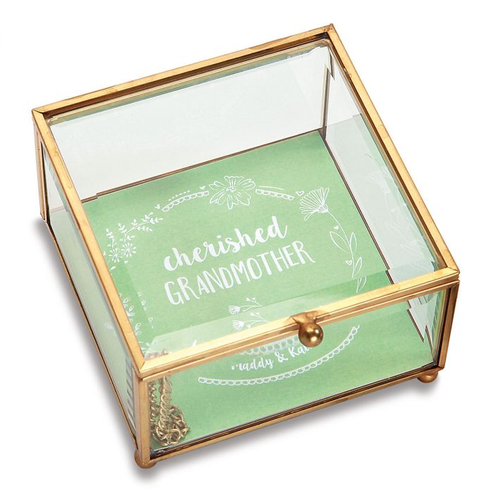 Personalized Grandmother Glass Trinket Box