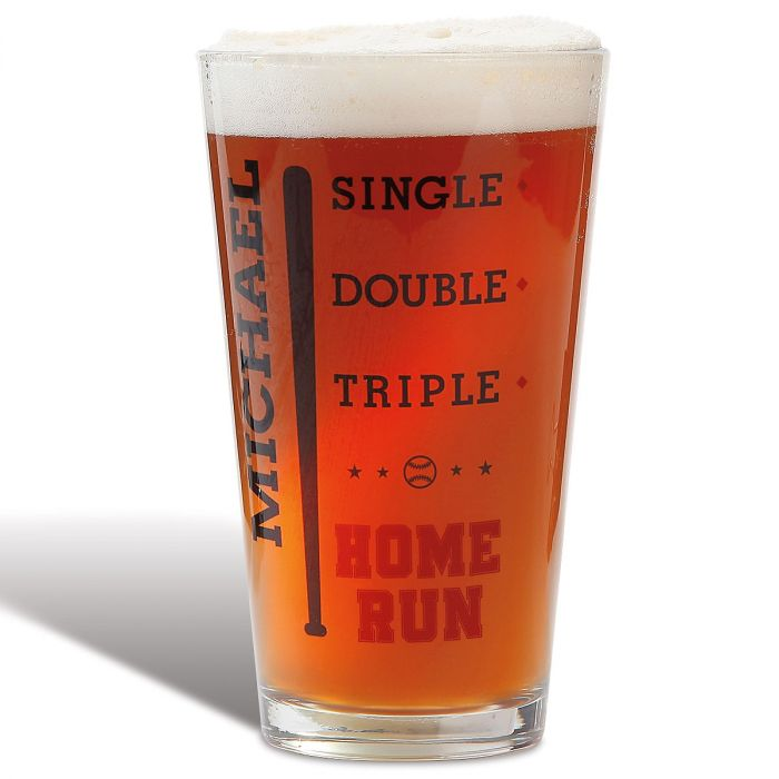 Personalized Baseball Pint Glass