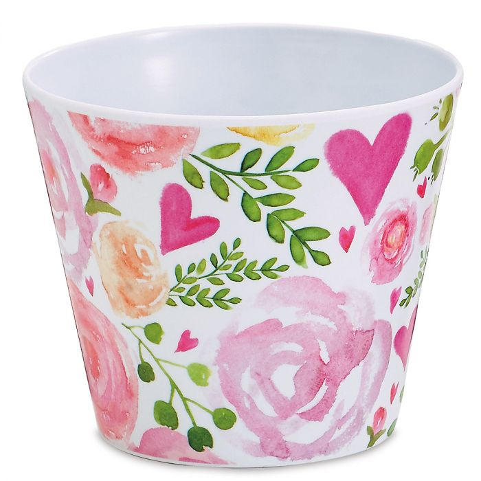 Pink Hearts Pot Cover