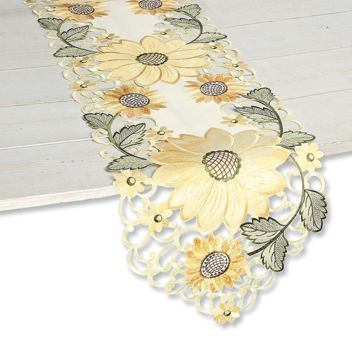 Sunflower Cutwork Table Runner
