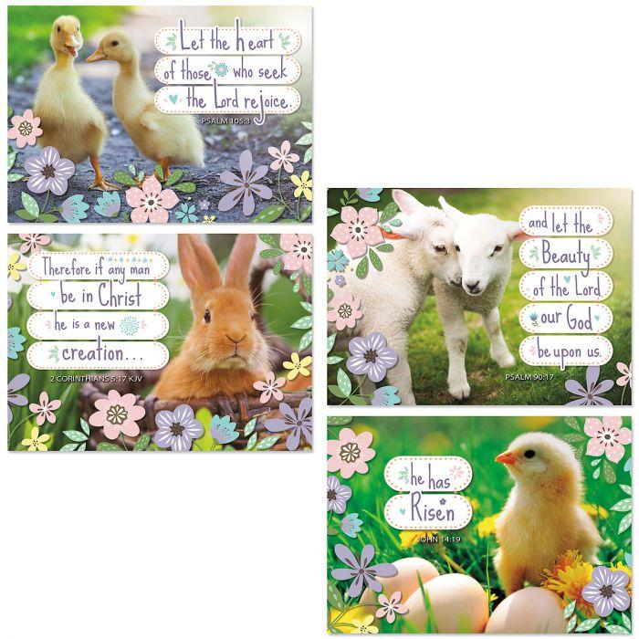 Spring Babies Easter Faith Cards