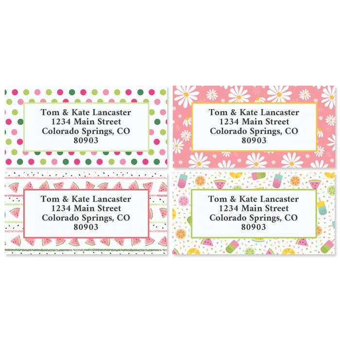 Spring Border Address Labels - BOGO