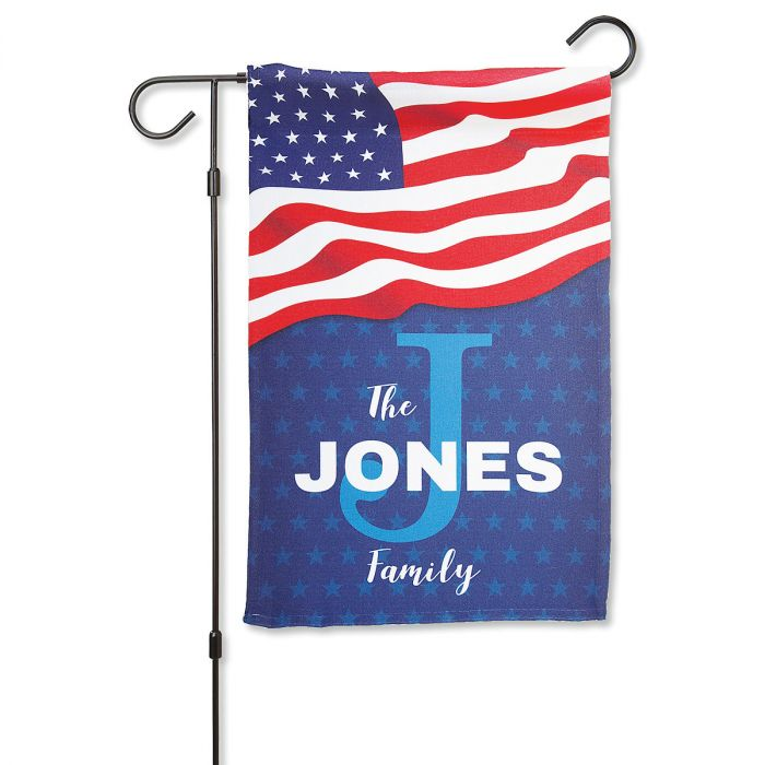 Stars & Stripes Personalized Garden Flag