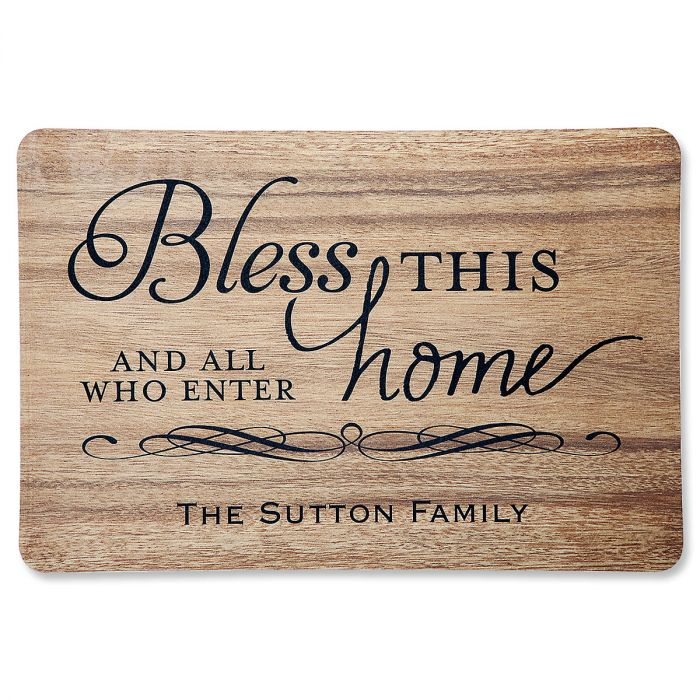 Bless This Home Personalized Welcome Doormat