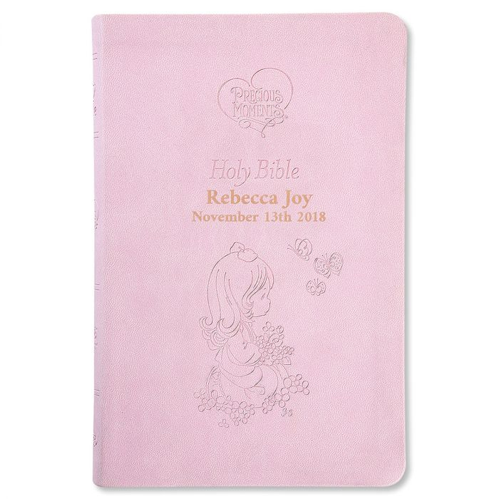 Pink Personalized Bible by Precious Moments®
