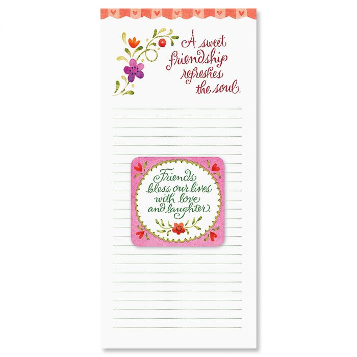 Sweet Friendship Magnet & List Pad