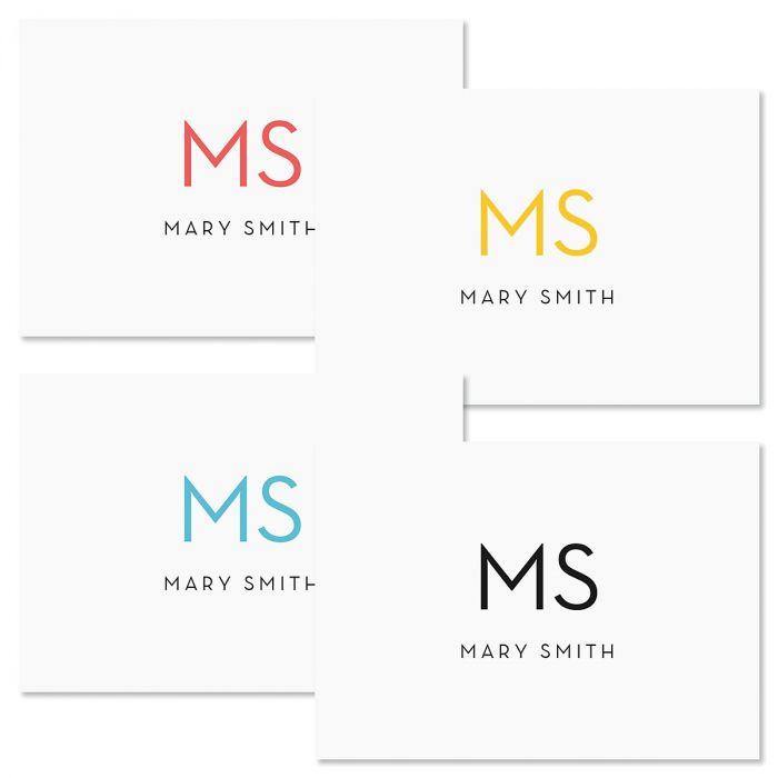 Minimalist Monogram Personalized Note Cards