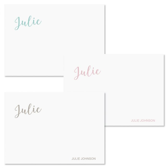 Hand Script Personalized Note Cards