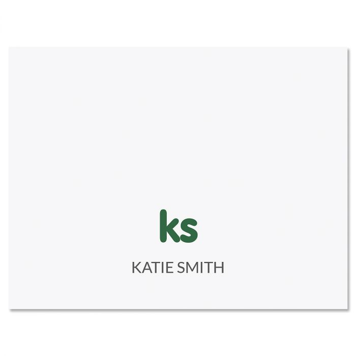 Sweet Monogram Personalized Note Cards