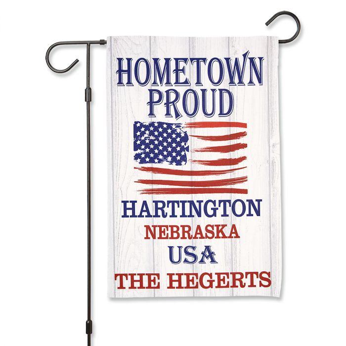 Hometown Proud Personalized Garden Flag