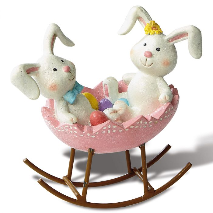Easter Egg Bunny Rocker