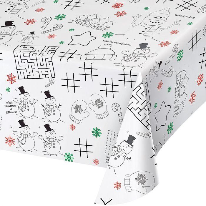 Kidsu0027 Christmas Activity Table Cover ...