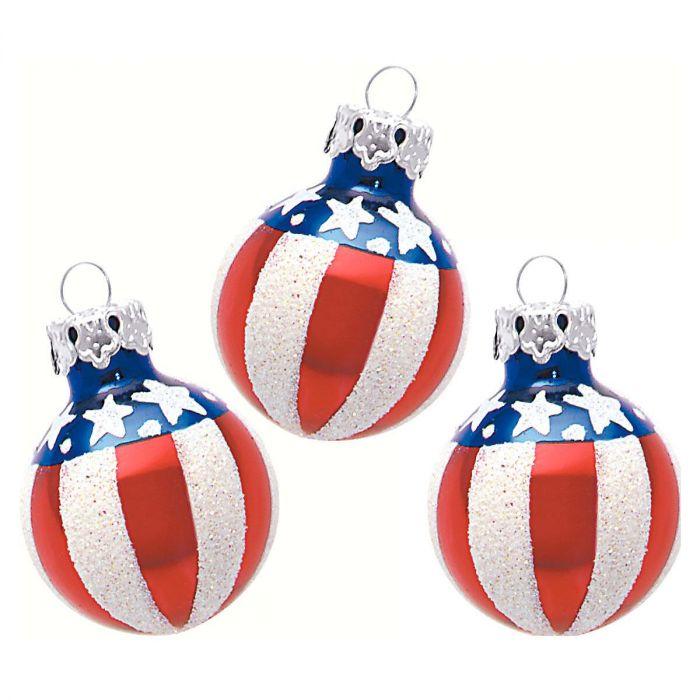 Americana Glass Ornaments