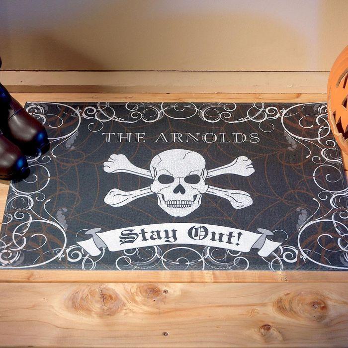 Halloween Personalized Welcome Doormat