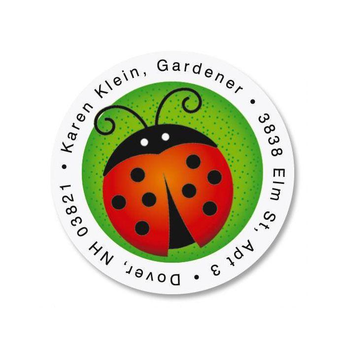 Ladybugs Round Address Labels