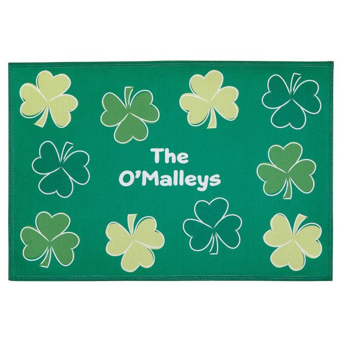 Shamrock Personalized Welcome Doormat