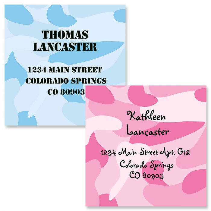 Camouflage Square Business Cards