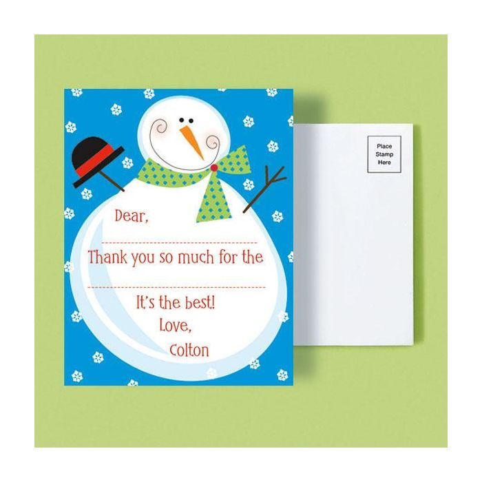 Christmas Personalized Thank You Postcards