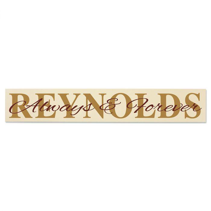 Always & Forever Wooden Plaque