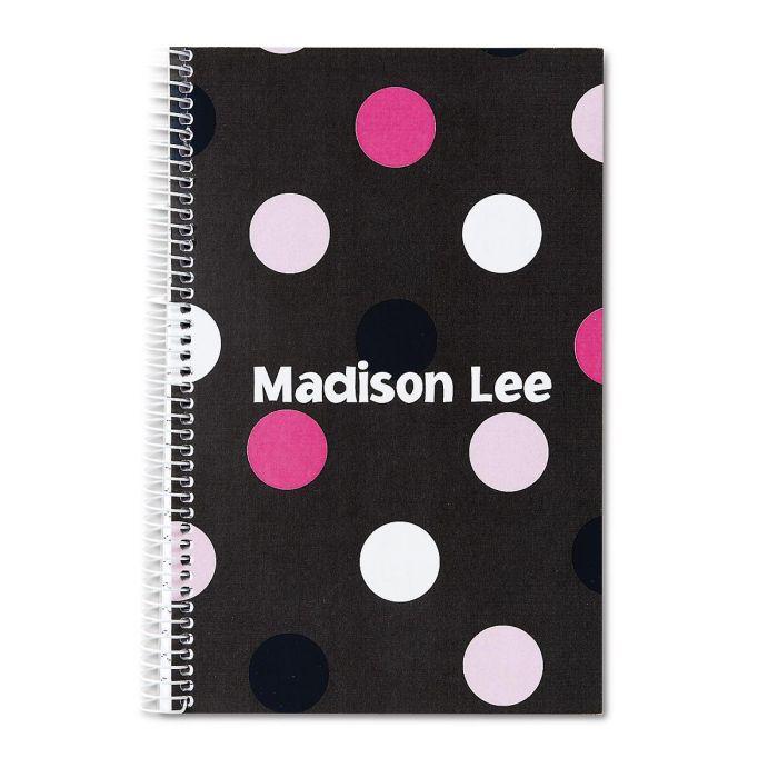 Grey Multi-Dots Notebook