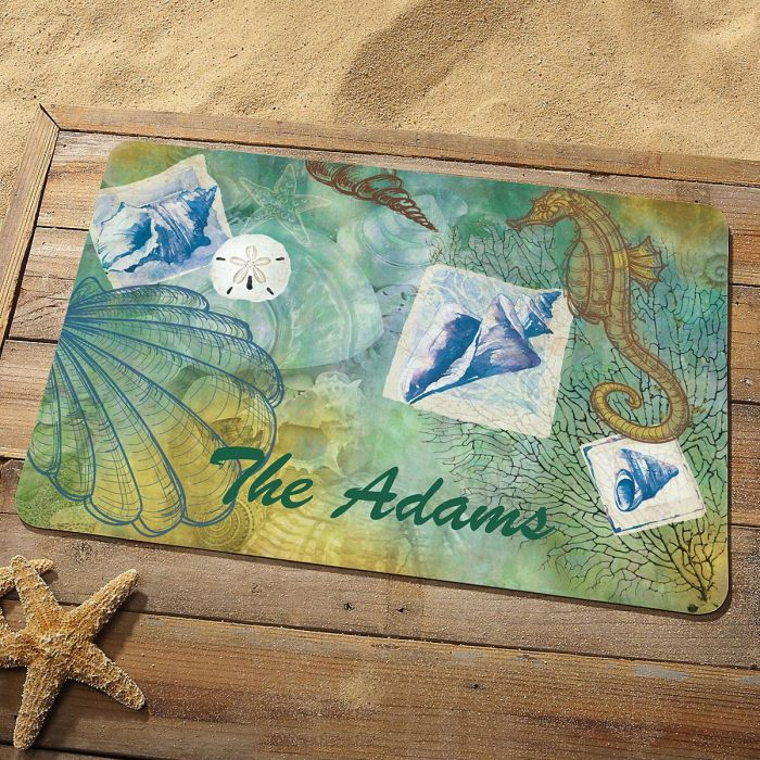 Seaside Personalized Welcome Doormat