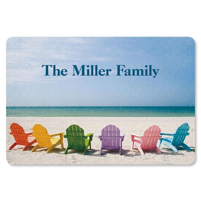 Tropical View Personalized Welcome Doormat