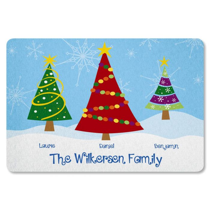 Family Trees Personalized Welcome Doormat