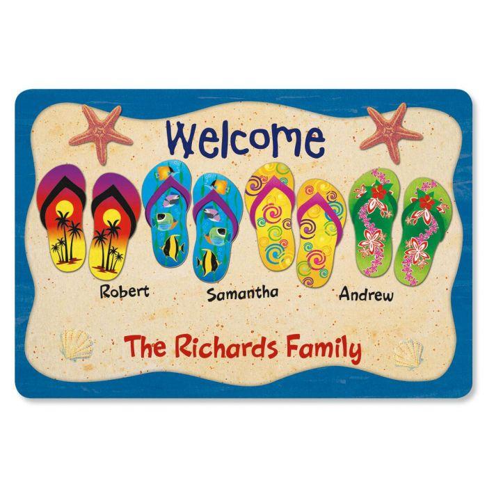 Flip Flop Personalized Welcome Doormat