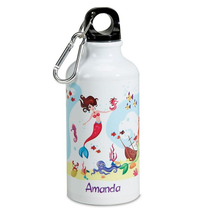 Mermaid Personalized Kids' Water Bottle