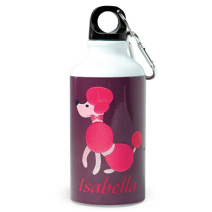 Poodle Personalized Kids' Water Bottle