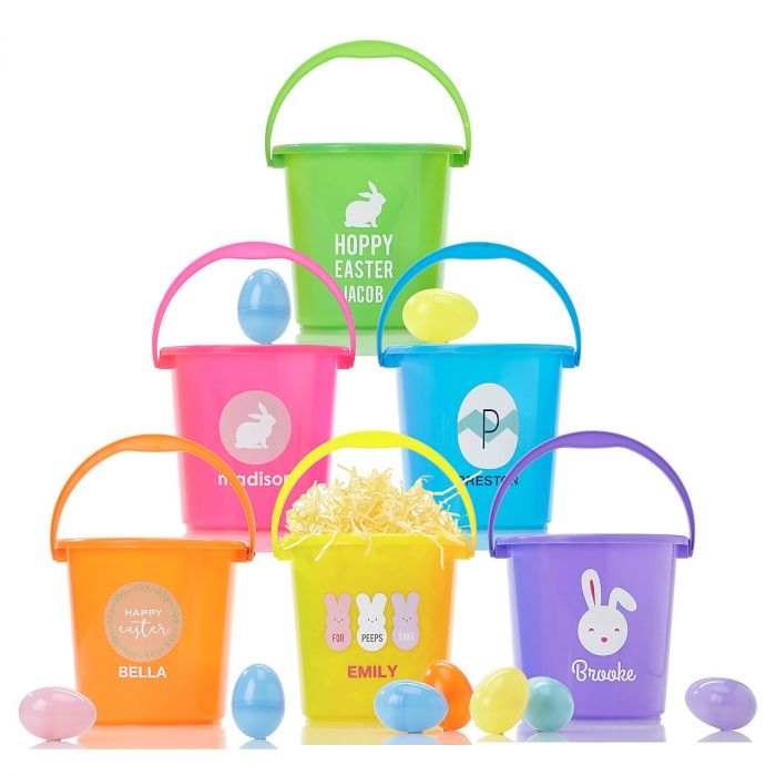 Personalized Easter Buckets