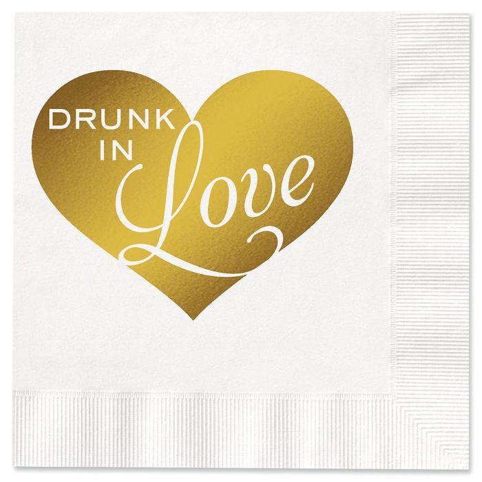 Drunk In Love Cocktail Napkins